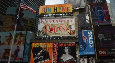 Times Square, panneaux publicitaires