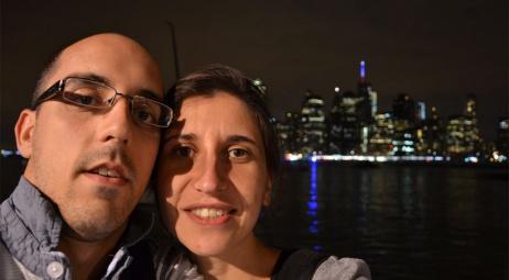 Nous - Bord de l'East River côté Brooklyn