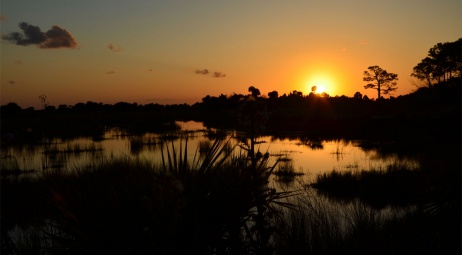 Black Point Wildlife Drive, coucher de soleil
