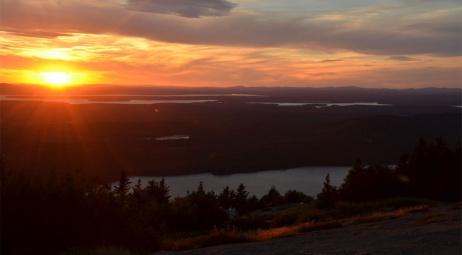 Acadia National Park ME, coucher de soleil