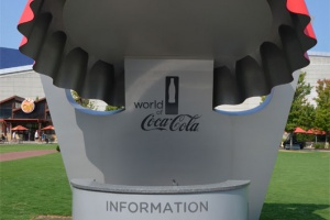 Atlanta - Stand d'info Coca-Cola Museum