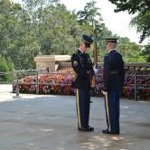 Washington D.C, Arlington Cemetery - gardes devant la tombe du soldat inconnu