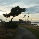 Plymouth, Mayflower, reconstitution du célèbre bateau Pilgrim